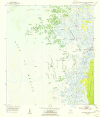 Download a high-resolution, GPS-compatible USGS topo map for Chassahowitzka Bay, FL (1955 edition)