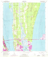 Download a high-resolution, GPS-compatible USGS topo map for Courtenay, FL (1971 edition)