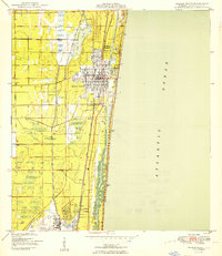 USGS 1:24000-scale Quadrangle for Delray Beach, FL 1950 ... on town of delray beach map, cypress lake fl map, ocala fl map, alachua fl map, deland fl map, surprise fl map, st. george island fl map, siesta key beach fl map, palm beach gardens fl map, fort myers fl map, indian creek fl map, st. johns river fl map, clearwater fl map, st marks fl map, glen st mary fl map, boca raton fl map, tamiami fl map, palm shores fl map, city of delray florida map, city of delray beach map,