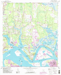 Download a high-resolution, GPS-compatible USGS topo map for Eastport, FL (1992 edition)