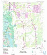 Download a high-resolution, GPS-compatible USGS topo map for Estero, FL (1991 edition)