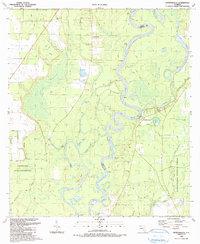 Download a high-resolution, GPS-compatible USGS topo map for Estiffanulga, FL (1990 edition)