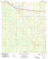 Download a high-resolution, GPS-compatible USGS topo map for Eugene, FL (1993 edition)