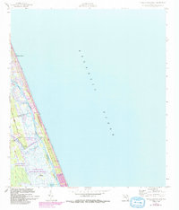 Download a high-resolution, GPS-compatible USGS topo map for Flagler Beach East, FL (1993 edition)