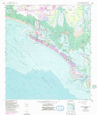 Download a high-resolution, GPS-compatible USGS topo map for Fort Myers Beach, FL (1991 edition)