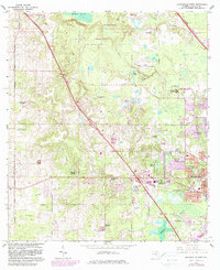 Download a high-resolution, GPS-compatible USGS topo map for Gainesville West, FL (1982 edition)