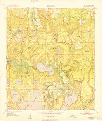 Download a high-resolution, GPS-compatible USGS topo map for Gap Pond, FL (1951 edition)