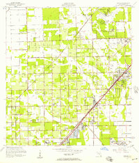 Download a high-resolution, GPS-compatible USGS topo map for Goulds, FL (1957 edition)
