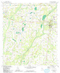 Download a high-resolution, GPS-compatible USGS topo map for Graceville, FL (1993 edition)