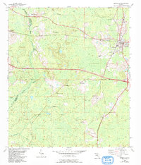 Download a high-resolution, GPS-compatible USGS topo map for Greenville, FL (1993 edition)