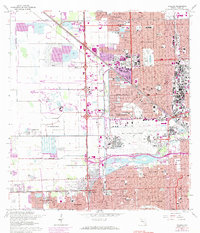 Download a high-resolution, GPS-compatible USGS topo map for Hialeah, FL (1984 edition)