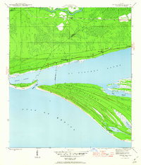 Download a high-resolution, GPS-compatible USGS topo map for Indian Pass, FL (1960 edition)