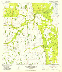 Download a high-resolution, GPS-compatible USGS topo map for Lake Poinsett SW, FL (1954 edition)