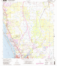 Download a high-resolution, GPS-compatible USGS topo map for Laurel, FL (1988 edition)