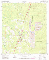 Download a high-resolution, GPS-compatible USGS topo map for Lawtey, FL (1988 edition)