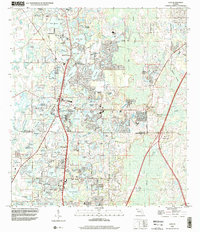 Download a high-resolution, GPS-compatible USGS topo map for Lutz, FL (2001 edition)