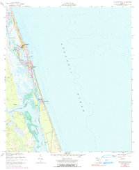 Download a high-resolution, GPS-compatible USGS topo map for Matanzas Inlet, FL (1990 edition)
