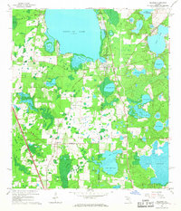 Download a high-resolution, GPS-compatible USGS topo map for Melrose, FL (1967 edition)
