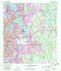 Download a high-resolution, GPS-compatible USGS topo map for Orlando East, FL (1981 edition)