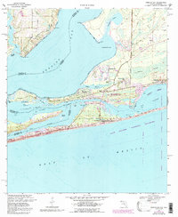 Download a high-resolution, GPS-compatible USGS topo map for Perdido Bay, FL (1993 edition)