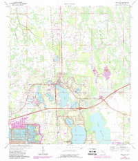 Download a high-resolution, GPS-compatible USGS topo map for Polk City, FL (1988 edition)