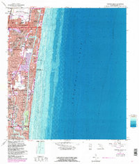 Download a high-resolution, GPS-compatible USGS topo map for Pompano Beach, FL (1986 edition)