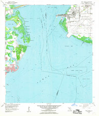 Download a high-resolution, GPS-compatible USGS topo map for Port Tampa, FL (1957 edition)