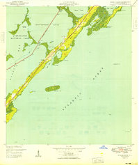 Download a high-resolution, GPS-compatible USGS topo map for Rock Harbor, FL (1949 edition)