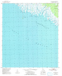 Download a high-resolution, GPS-compatible USGS topo map for Rock Islands, FL (1992 edition)