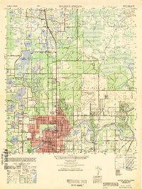 USGS 1:25000-scale Quadrangle for Sulphur Springs, FL 1949