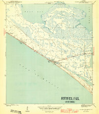 Panama City Beach Florida Map.Usgs 1 31680 Scale Quadrangle For Panama City Beach Fl 1943