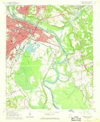 Download a high-resolution, GPS-compatible USGS topo map for Augusta East, GA (1968 edition)