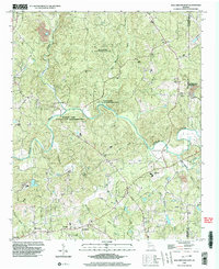 Download a high-resolution, GPS-compatible USGS topo map for Ball Ground East, GA (2003 edition)