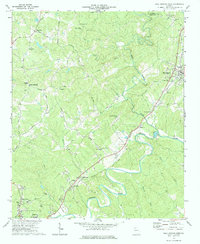 Download a high-resolution, GPS-compatible USGS topo map for Ball Ground West, GA (1984 edition)