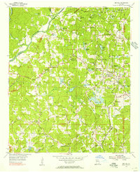 Download a high-resolution, GPS-compatible USGS topo map for Ben Hill, GA (1956 edition)