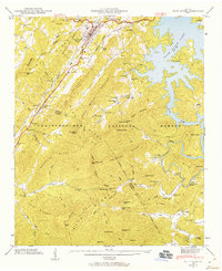 Download a high-resolution, GPS-compatible USGS topo map for Blue Ridge, GA (1960 edition)
