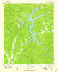 Download a high-resolution, GPS-compatible USGS topo map for Burton Lake, GA (1958 edition)