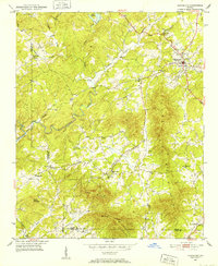 Download a high-resolution, GPS-compatible USGS topo map for Cleveland, GA (1952 edition)