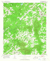 Download a high-resolution, GPS-compatible USGS topo map for Cleveland, GA (1968 edition)