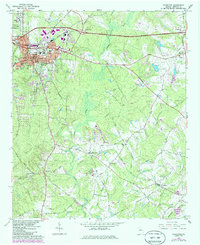 Download a high-resolution, GPS-compatible USGS topo map for Covington, GA (1986 edition)