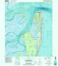 USGS 1:24000-scale Quadrangle for Cumberland Island North, GA 1998 ...