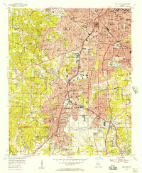 Download a high-resolution, GPS-compatible USGS topo map for East Point, GA (1957 edition)