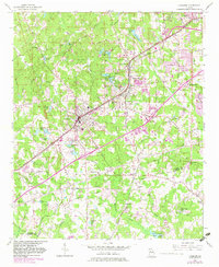 Download a high-resolution, GPS-compatible USGS topo map for Fairburn, GA (1983 edition)