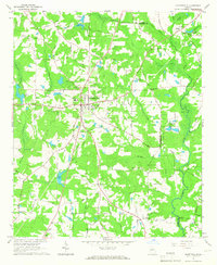 Download a high-resolution, GPS-compatible USGS topo map for Fayetteville, GA (1967 edition)