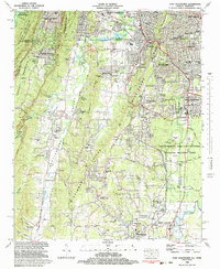 Download a high-resolution, GPS-compatible USGS topo map for Fort Oglethorpe, GA (1983 edition)