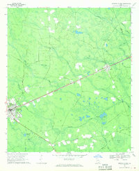Download a high-resolution, GPS-compatible USGS topo map for Homerville East, GA (1970 edition)