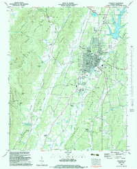 Download a high-resolution, GPS-compatible USGS topo map for Lafayette, GA (1983 edition)