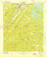 Download a high-resolution, GPS-compatible USGS topo map for Lake Toccoa, GA (1947 edition)