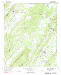 Download a high-resolution, GPS-compatible USGS topo map for Lyerly, GA (1991 edition)