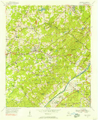 Download a high-resolution, GPS-compatible USGS topo map for Mableton, GA (1956 edition)